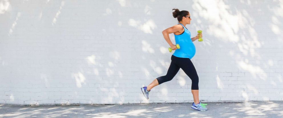 PHOTO: In this file photo, a pregnant woman is shown jogging.