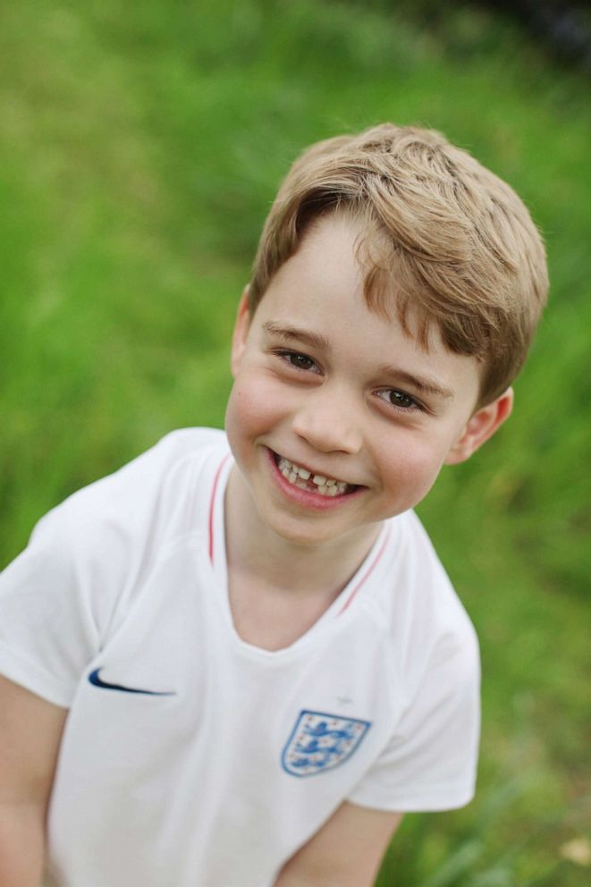 PHOTO: This undated handout photo of Prince George taken by his mother, the Duchess of Cambridge, was released on July 21, 2019, to mark his sixth birthday, July 22, 2019.