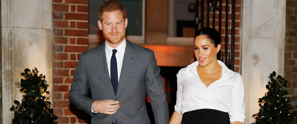 PHOTO: Prince Harry, Duke of Sussex and Meghan, Duchess of Sussex attend the Endeavour Fund awards at Drapers Hall, Feb. 7, 2019, in London.