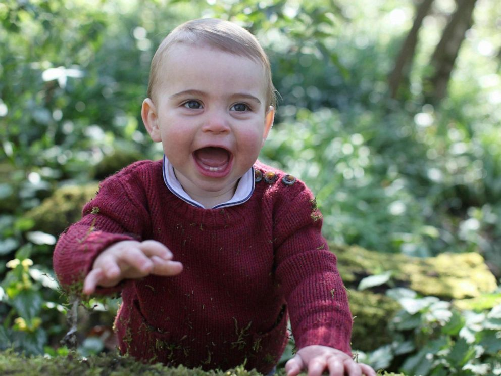 PHOTO: This photo released by Kensington Palace on Monday April 22, 2019, and taken by Kate, Duchess of Cambridge, shows Prince Louis at their home in Norfolk, England, to mark his first birthday on Tuesday.