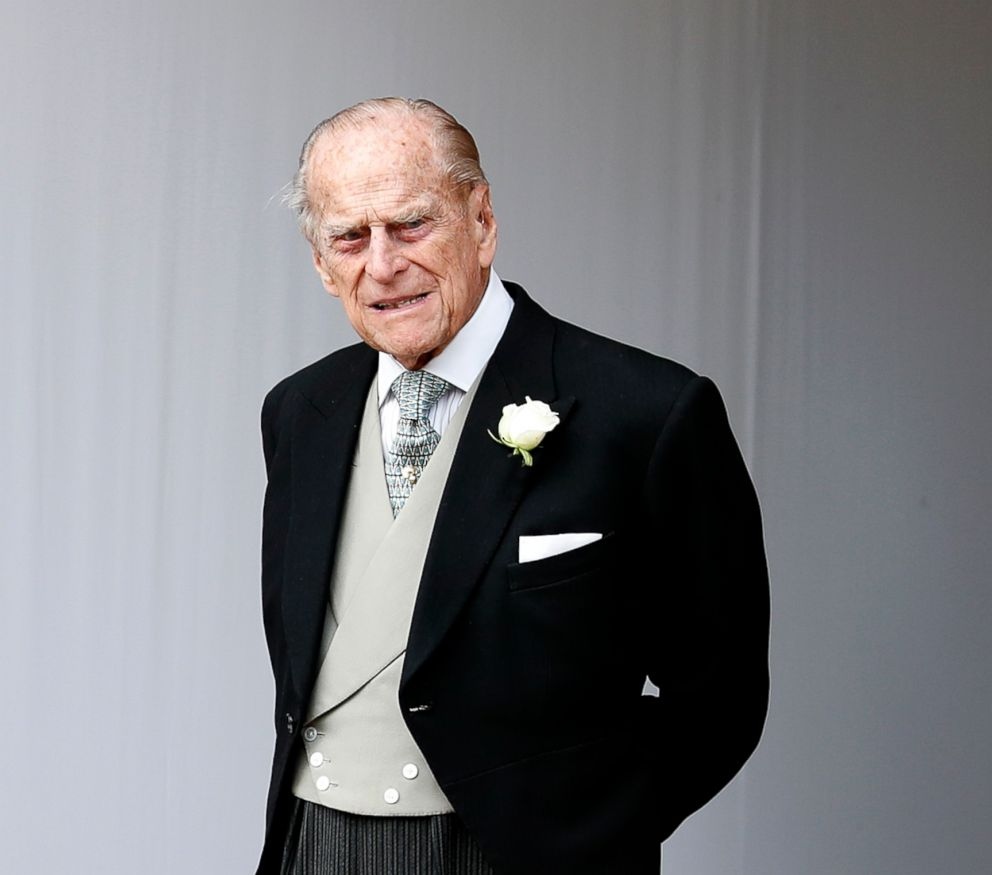 PHOTO: Prince Philip waits for the bridal procession following the wedding of Princess Eugenie of York and Jack Brooksbank in St Georges Chapel, Windsor Castle, near London, Oct. 12, 2018.