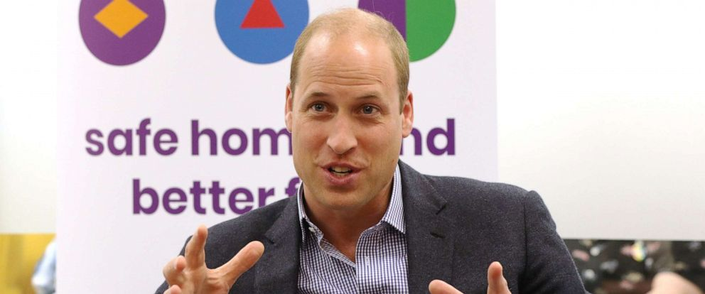 PHOTO: Prince William, Duke of Cambridge speaks to former and current service users during a visit to the Albert Kennedy Trust on June 26, 2019 in London.