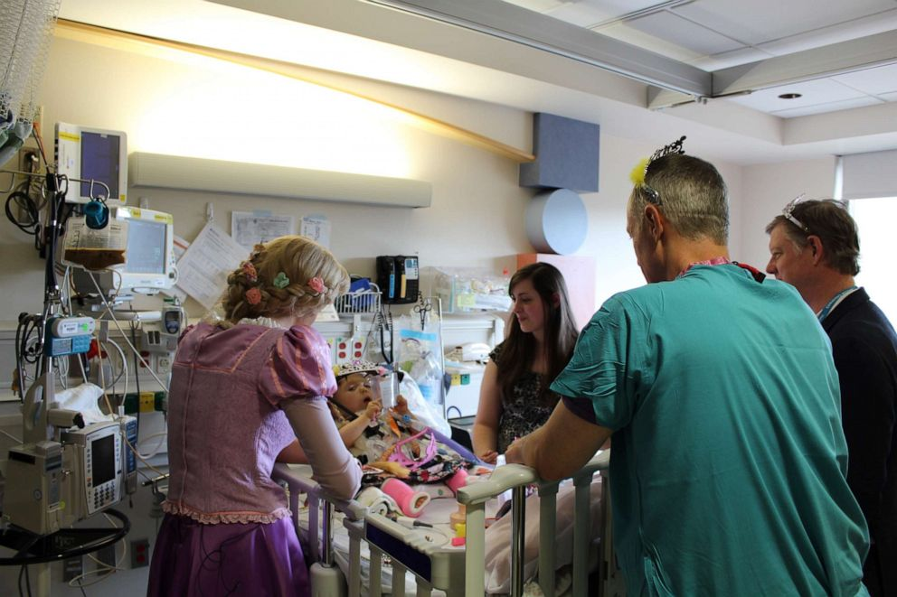 PHOTO: 21-month-old Emma Krall received a special Disney princess surprise at Seattle Childrens.