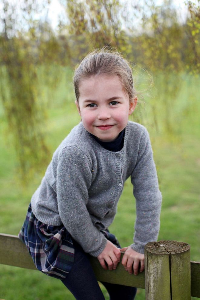PHOTO: Britains Princess Charlotte poses for a photo taken by her mother, Catherine, Duchess of Cambridge, at their home in Norfolk, Britain in April and released May 1, 2019, to mark her fourth birthday.