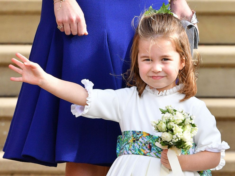 PHOTO: Princess Charlotte of Cambridge attends the wedding of Princess Eugenie of York and Jack Brooksbank at St Georges Chapel, Oct. 12, 2018, in Windsor, England.
