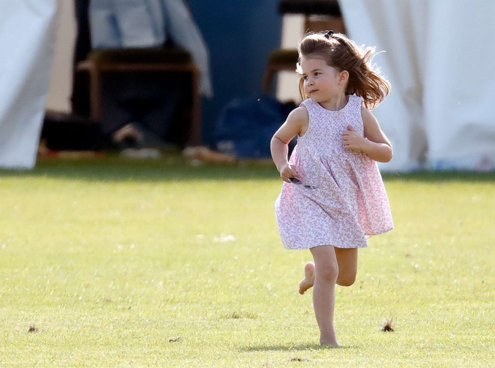PHOTO: Princess Charlotte of Cambridge attends the Maserati Royal Charity Polo Trophy at the Beaufort Polo Club on June 10, 2018 in Gloucester, England.