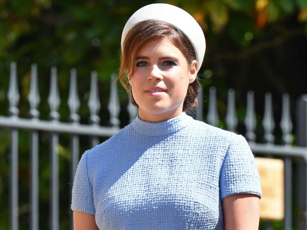 PHOTO: Princess Eugenie attends the wedding of Prince Harry to Meghan Markle at St Georges Chapel, Windsor Castle, May 19, 2018, in Windsor, England.