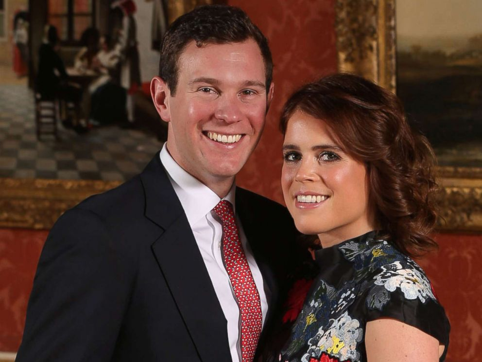 PHOTO: Princess Eugenie and Jack Brooksbank pose in the Picture Gallery at Buckingham Palace after they announced their engagement, Jan. 22, 2018, in London.