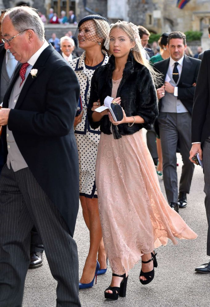 PHOTO: Kate Moss and Lila Grace Moss Hack, right, arrive for the wedding of Princess Eugenie to Jack Brooksbank at St Georges Chapel in Windsor Castle, Britain, Oct. 12, 2018.