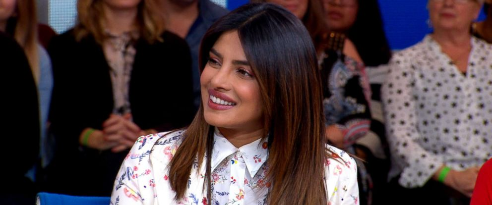 "PHOTO: Priyanka Chopra appears on ""Good Morning America,"" Feb. 6, 2019."