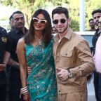 Priyanka Chopra and Nick Jonas pose for a photograph as they leave after their wedding ceremony in Jodhpur in the western Indian state of Rajasthan, Dec. 3, 2018.