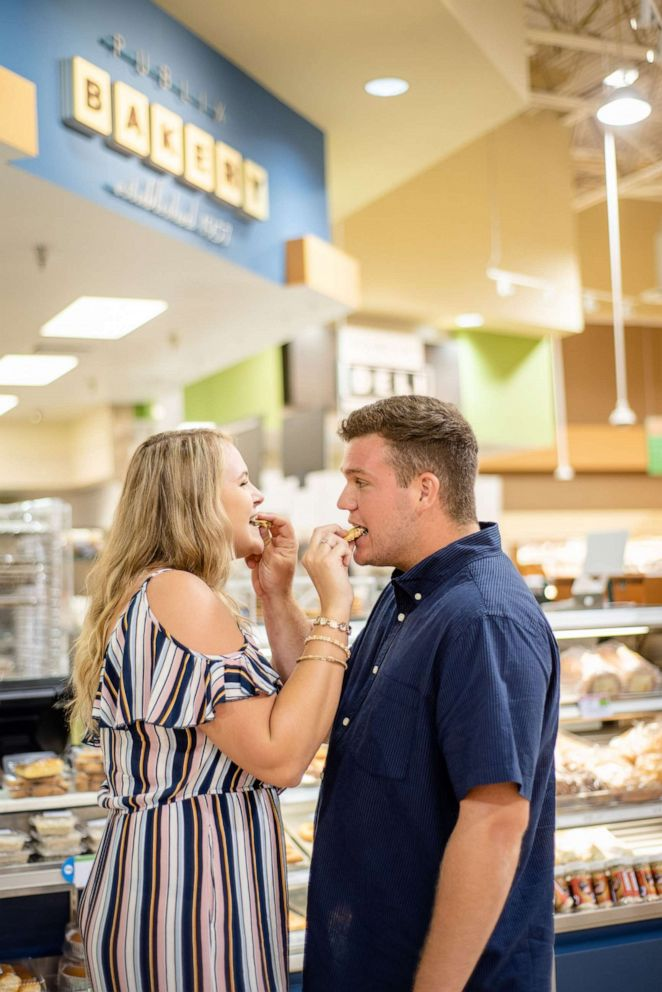 PHOTO: Alexandra and Dylan plan to have Publixs bakery department cater their wedding cake.