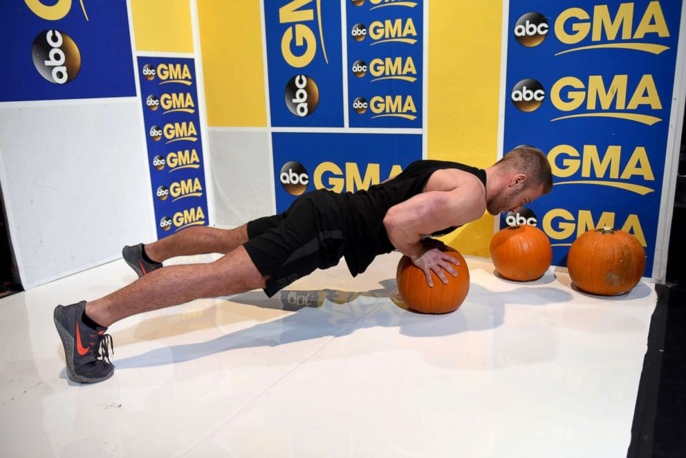 PHOTO: The pumpkin push-up helps strengthen everything from the abs to the shoulder muscles.