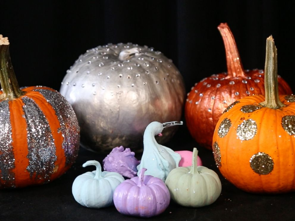 halloween how to 3 easy diy pumpkins to glam up your front porchphoto good morning america worked with a crafter to create diy pumpkin ideas to glam