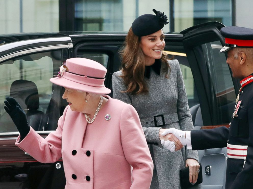Kate Middleton Makes First Solo Outing With Queen Elizabeth II