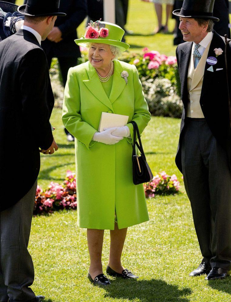PHOTO: Queen Elizabeth II attends the Royal Ascot, June 22, 2018 in Ascot, United Kingdom.
