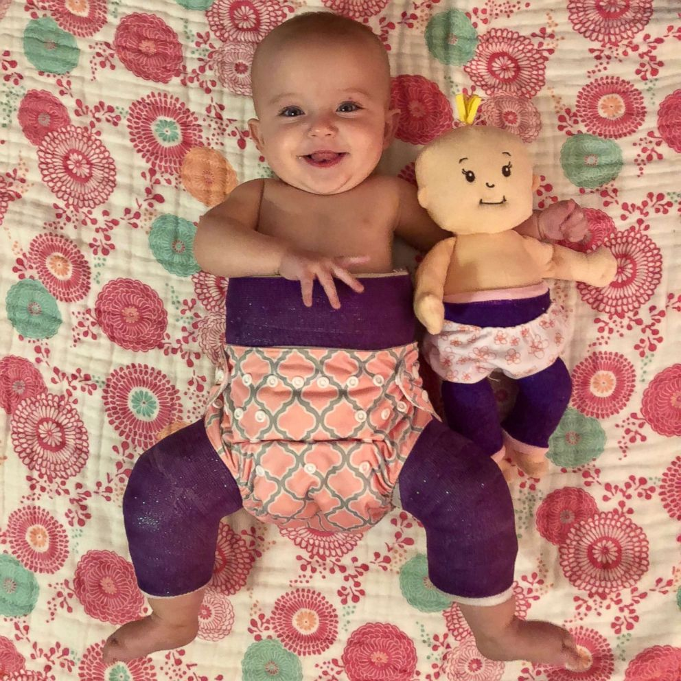 Quinn Harper and her doll.