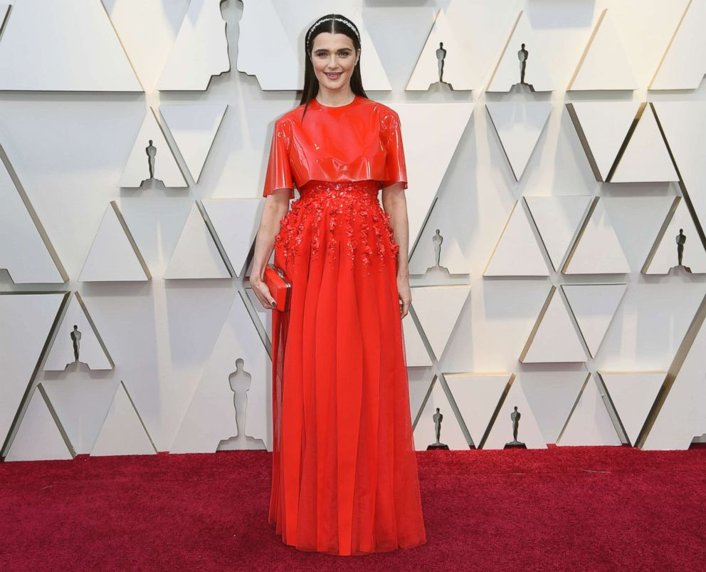 PHOTO: Rachel Weisz arrives at the Oscars, Feb. 24, 2019, at the Dolby Theatre in Los Angeles.