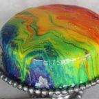 Rainbow Crepe Cake by Stefano's in Laguna Hills, California