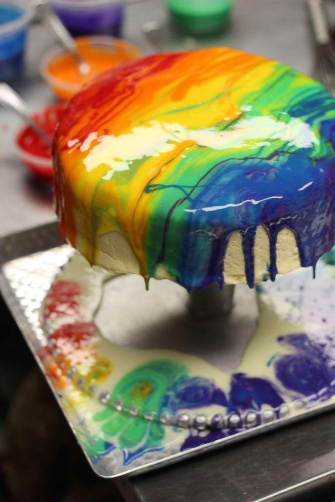 PHOTO: Rainbow Crepe Cake by Stefanos in Laguna Hills, California