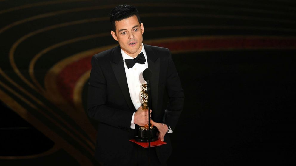 Rami Malek accepts the award for best actor for 'Bohemian Rhapsody' onstage during the 91st Annual Academy Awards at Dolby Theatre, Feb. 24, 2019, in Hollywood, Calif.