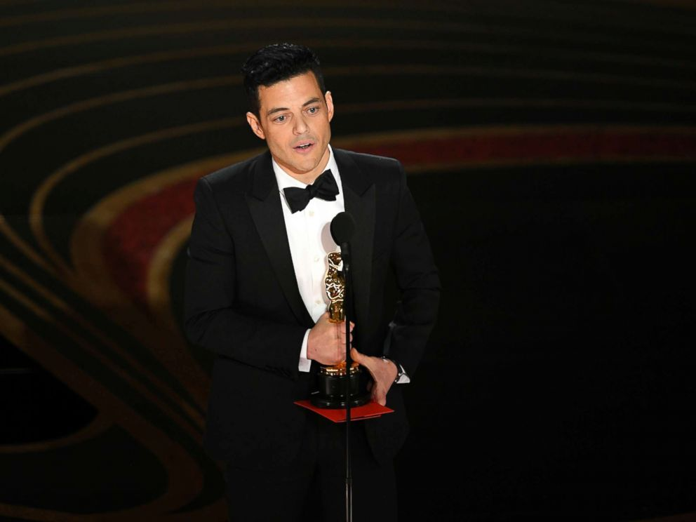 PHOTO: Rami Malek accepts the award for best actor for Bohemian Rhapsody onstage during the 91st Annual Academy Awards at Dolby Theatre, Feb. 24, 2019, in Hollywood, Calif.