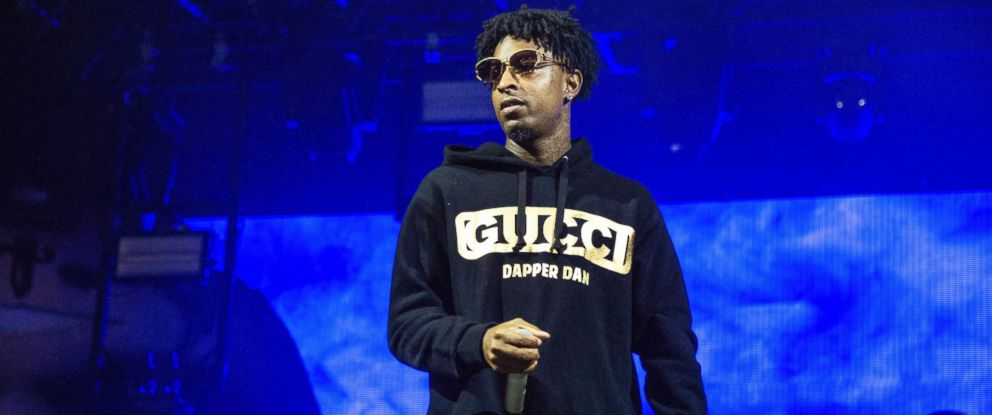 PHOTO: In this Oct. 28, 2018, file photo, 21 Savage performs at the Voodoo Music Experience in New Orleans.