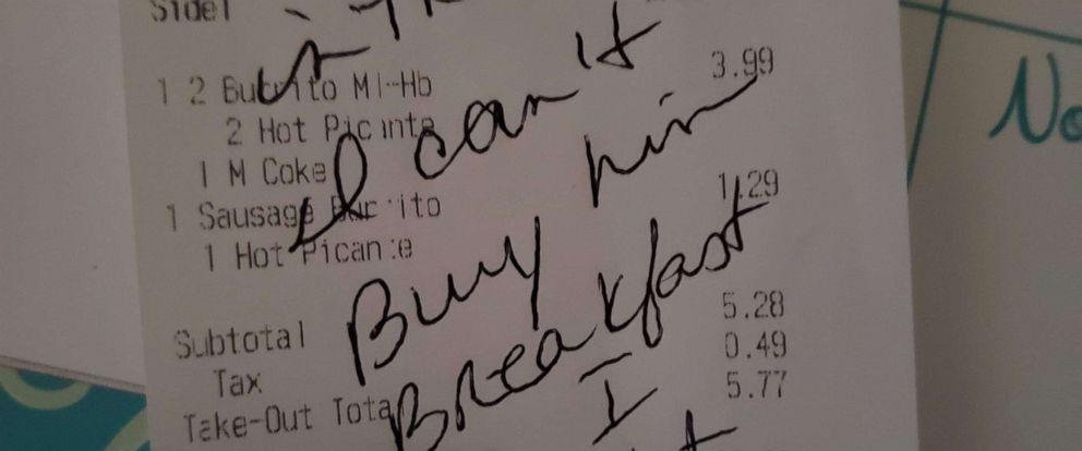 PHOTO: McDonalds receipt Air Force mom