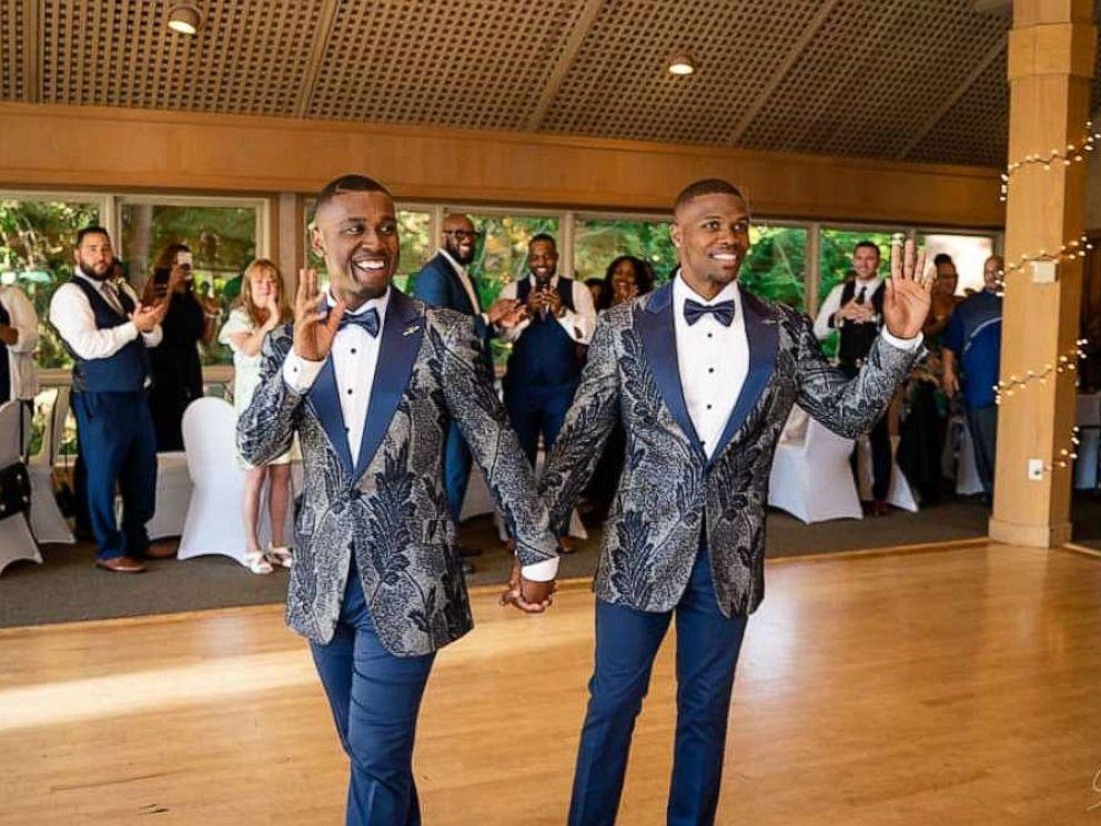 PHOTO: Taylor and Isaiah Green-Jones at their wedding reception.