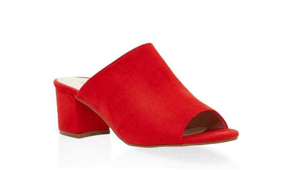 PHOTO: Faux Suede Mule Sandals