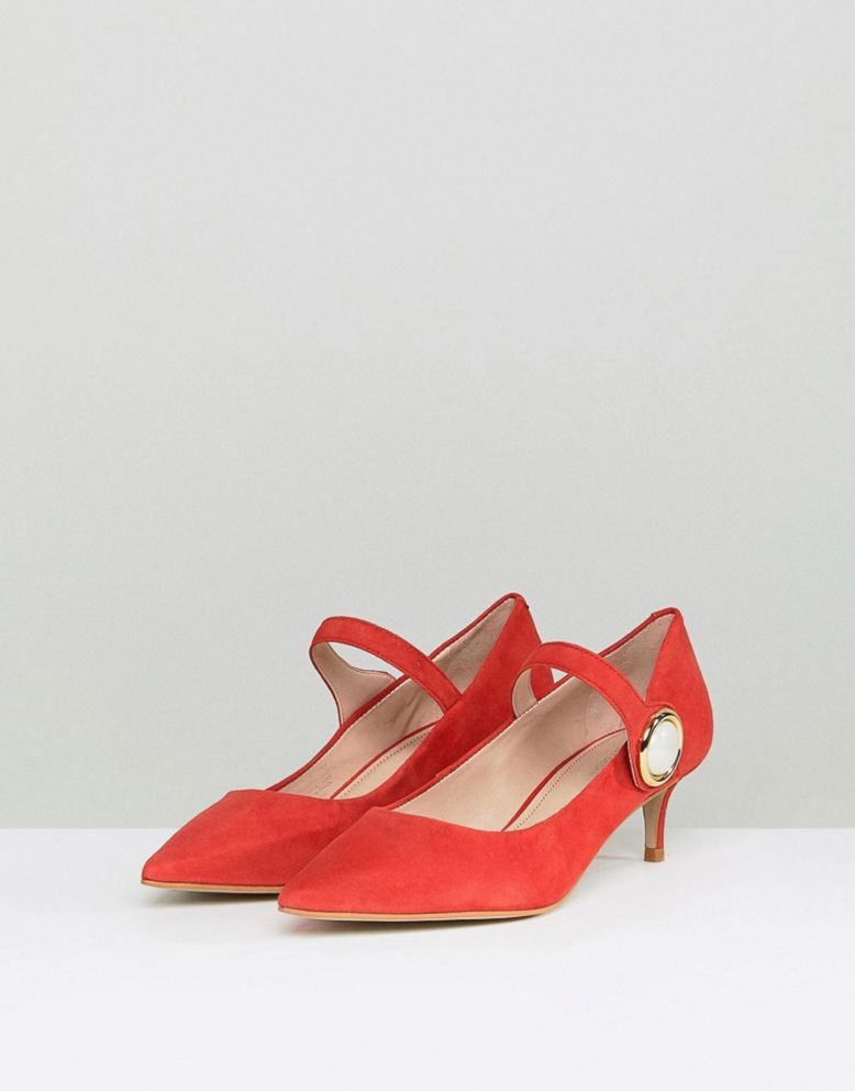 5c29ac77ee4 PHOTO  These red suede kitten heels are super cute.