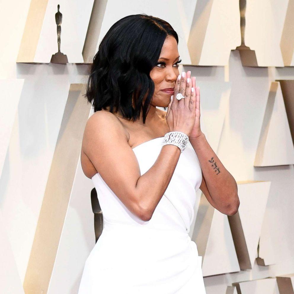 15b988ef1 Oscars 2019: Regina King and Lady Gaga were dripping in diamonds   GMA