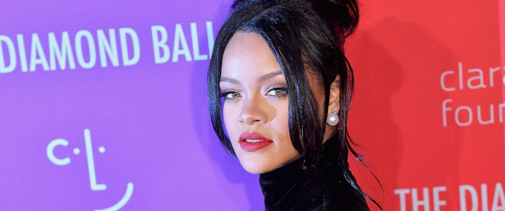 PHOTO: Barbadian singer/actress Rihanna arrives for Rihannas 5th Annual Diamond Ball Benefitting The Clara Lionel Foundation at Cipriani Wall Street on September 12, 2019, in New York.