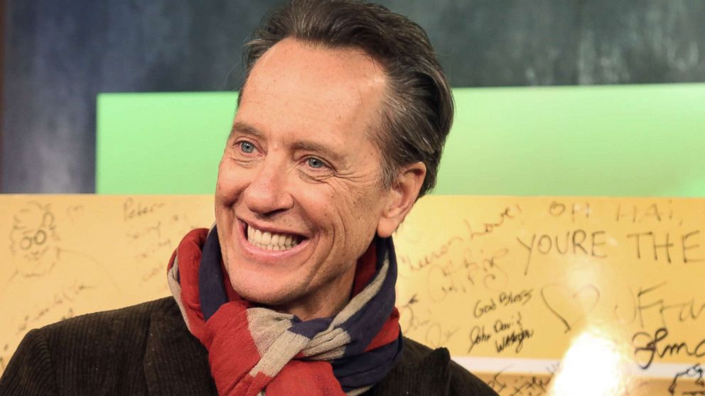 """Richard E. Grant appears on """"Popcorn with Peter Travers"""" at ABC News studios, Nov. 27, 2018, in New York."""