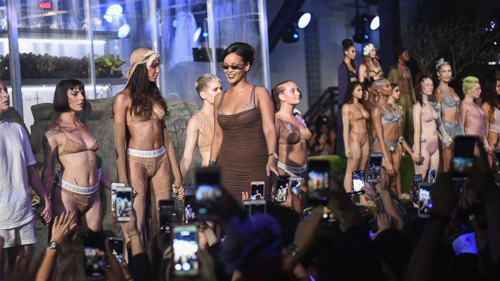 bafdc7dc6 Why Rihanna had models of all sizes in her Fashion Week lingerie show - ABC  News