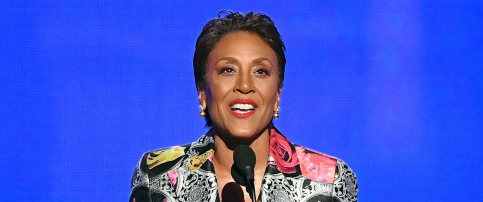 PHOTO: Robin Roberts accepts the Sager Strong Award during the 2019 NBA Awards on June 24, 2019, in Santa Monica, Calif.