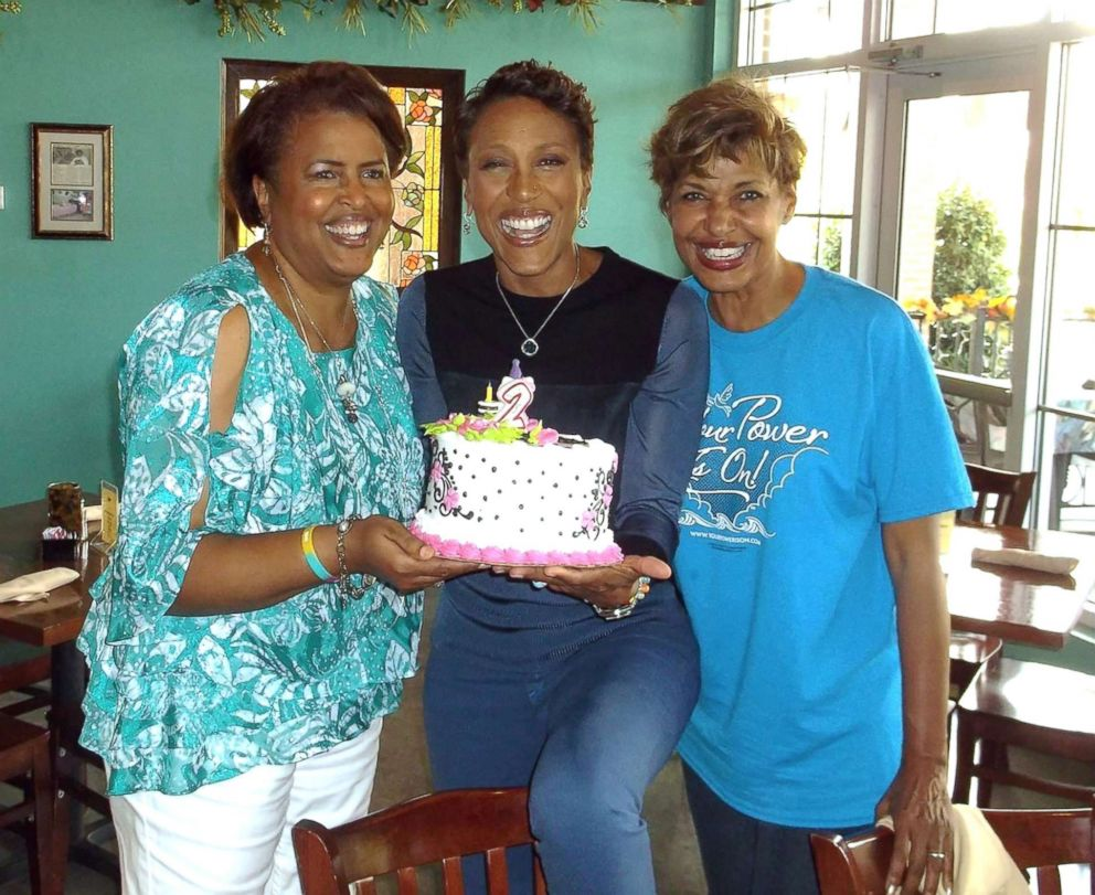 PHOTO: ABC News Robin Roberts and her sisters are photographed celebrating her second birthday.