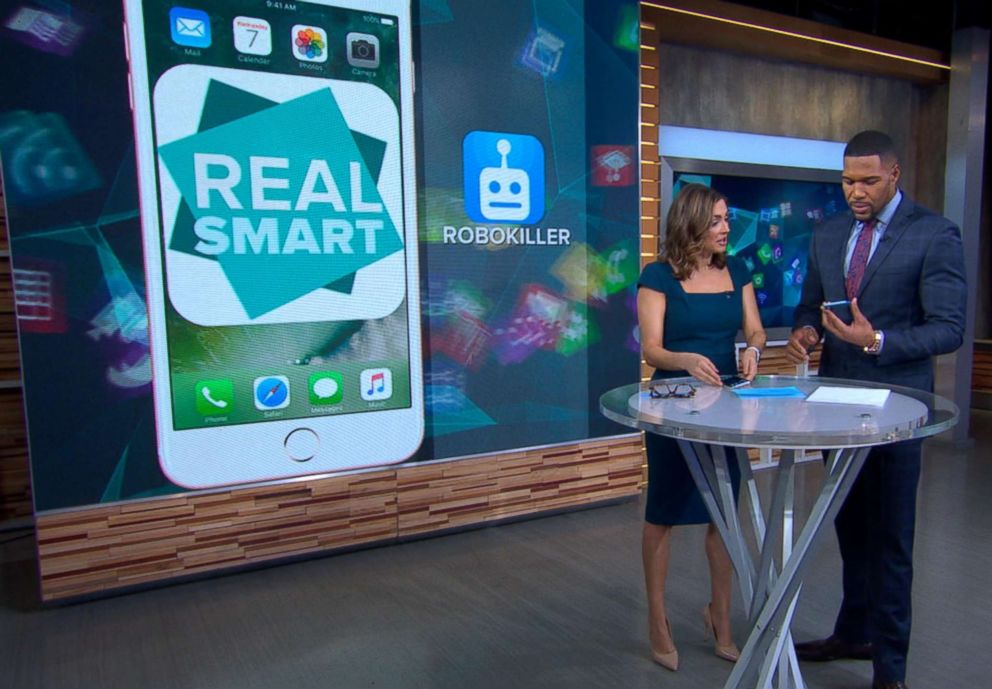 PHOTO: ABC News Paula Faris demonstrates how an app can help stop spam calls from coming through.
