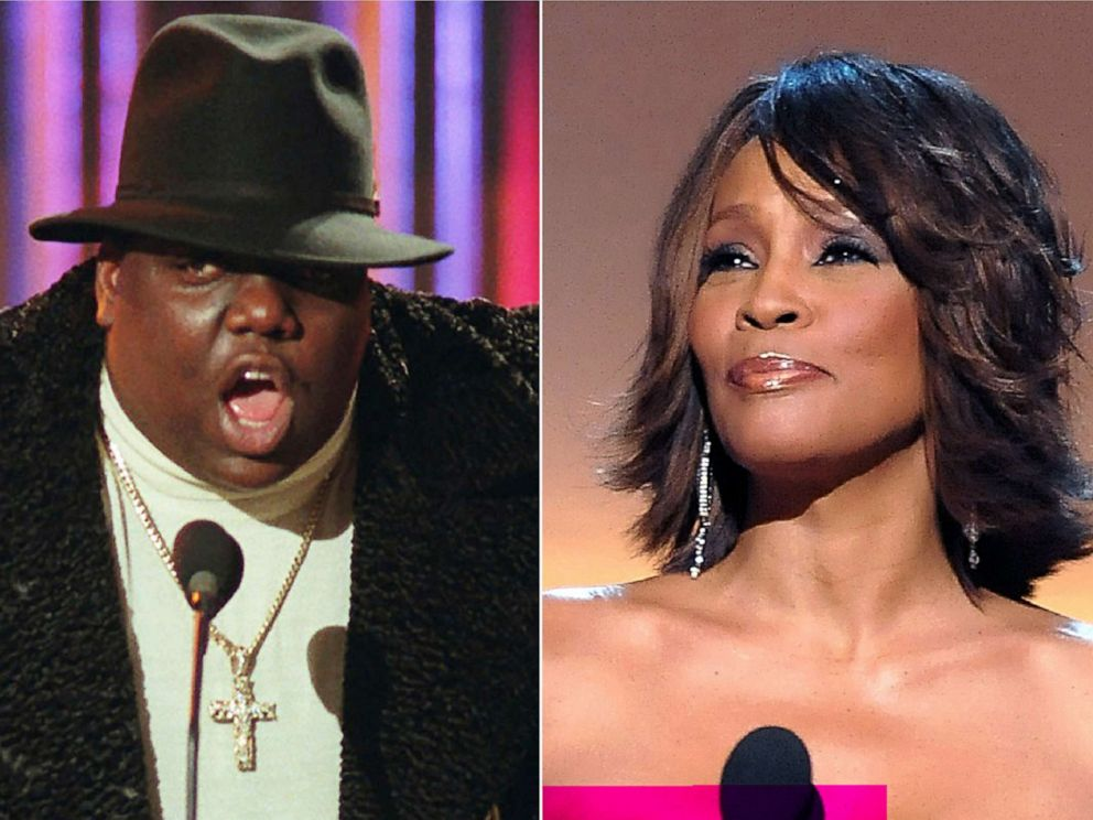 PHOTO: Notorious B.I.G. and singer Whitney Houston are among the 16 acts nominated for the Rock and Roll Hall of Fames 2020 class.