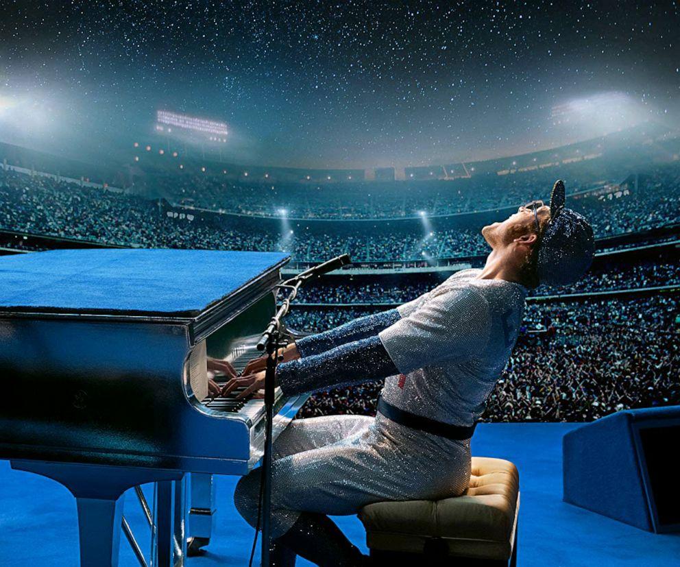 PHOTO: Taron Egerton, as Elton John, in a scene from Rocketman.