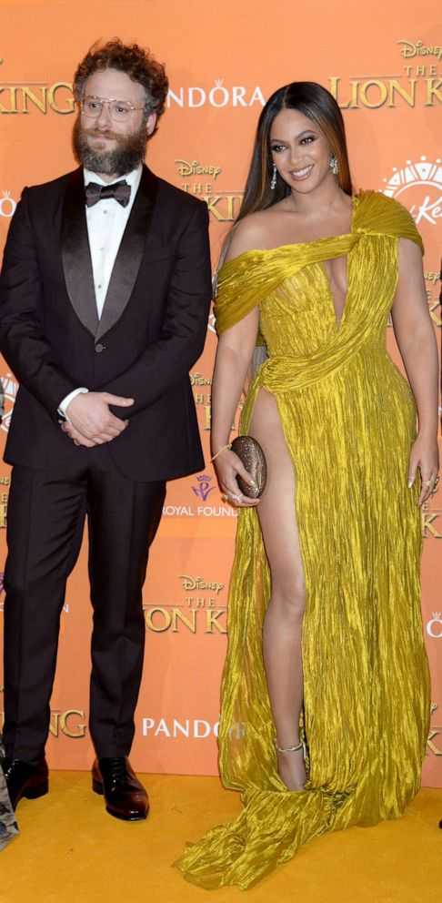 PHOTO: Seth Rogen and Beyonce attend The Lion King film premiere in London, July 14, 2019.