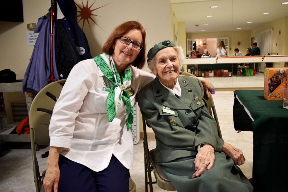 PHOTO: Ronnie Backenstoe pictured with current Girl Scout troop leader, Barbara Allen Perelli.