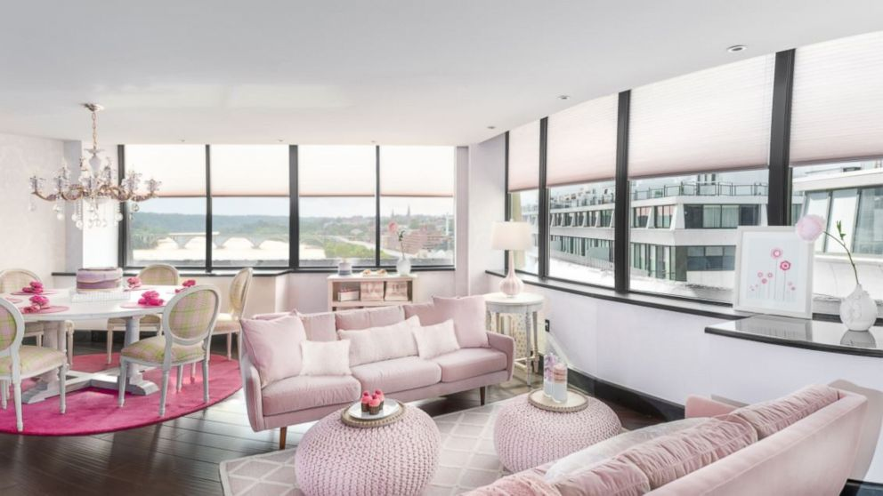 The Rose Suite at the Watergate Hotel is all our pink wishes come true