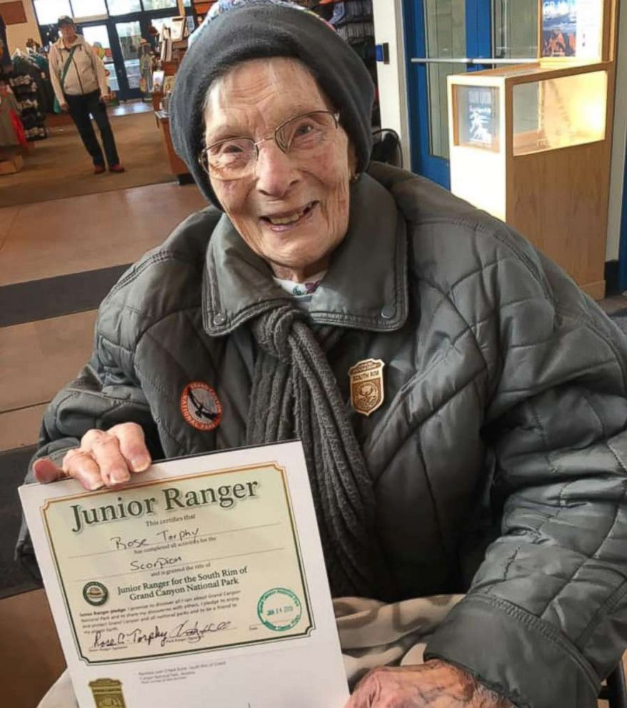 Rose Torphy was made a Junior Ranger for the South Rim of Grand Canyon National Park on Jan. 14, 2019.