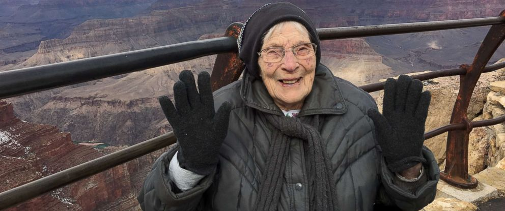 PHOTO: Rose Torphy poses for a photo on her second trip to the Grand Canyon in January 2019.