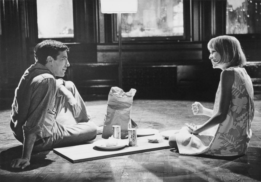PHOTO: American actor, director and screenwriter John Cassavetes (1929 - 1989) stars with Mia Farrow in the film Rosemarys Baby, 1967.