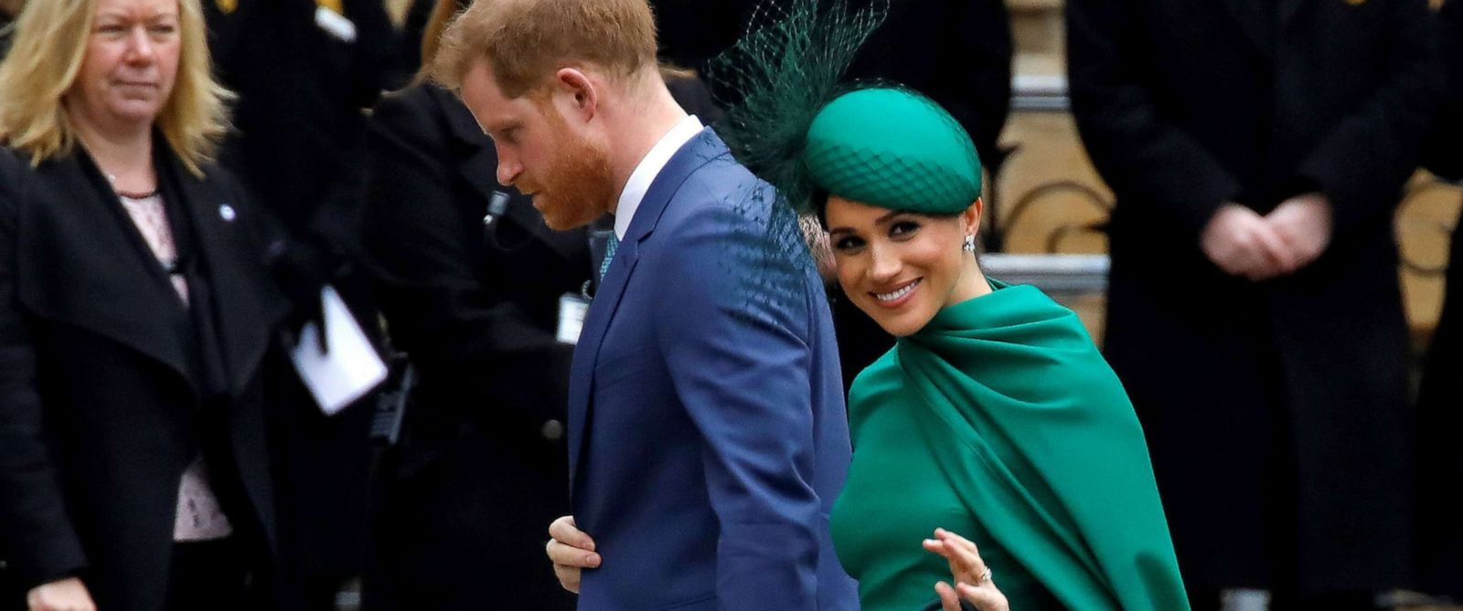 PHOTO: Britain's Prince Harry, Duke of Sussex and Meghan, Duchess of Sussex arrive to attend the annual Commonwealth Service at Westminster Abbey in London, March 09, 2020.