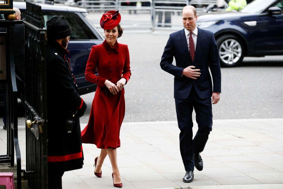 ФОТО: Британские принц Уильям и Кэтрин, герцогиня Кембриджская, прибывают на ежегодную службу Содружества в Вестминстерское аббатство в Лондоне, 9 марта 2020 года.