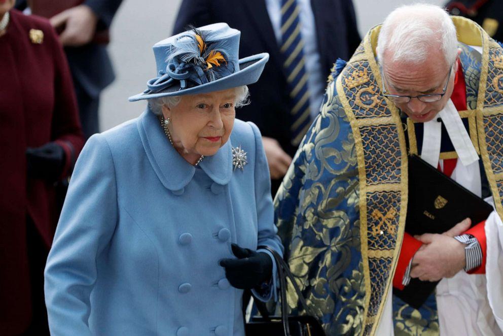ФОТО: Британская королева Елизавета II прибывает для участия в ежегодной службе Дня Содружества в Вестминстерском аббатстве в Лондоне, 9 марта 2020 года.