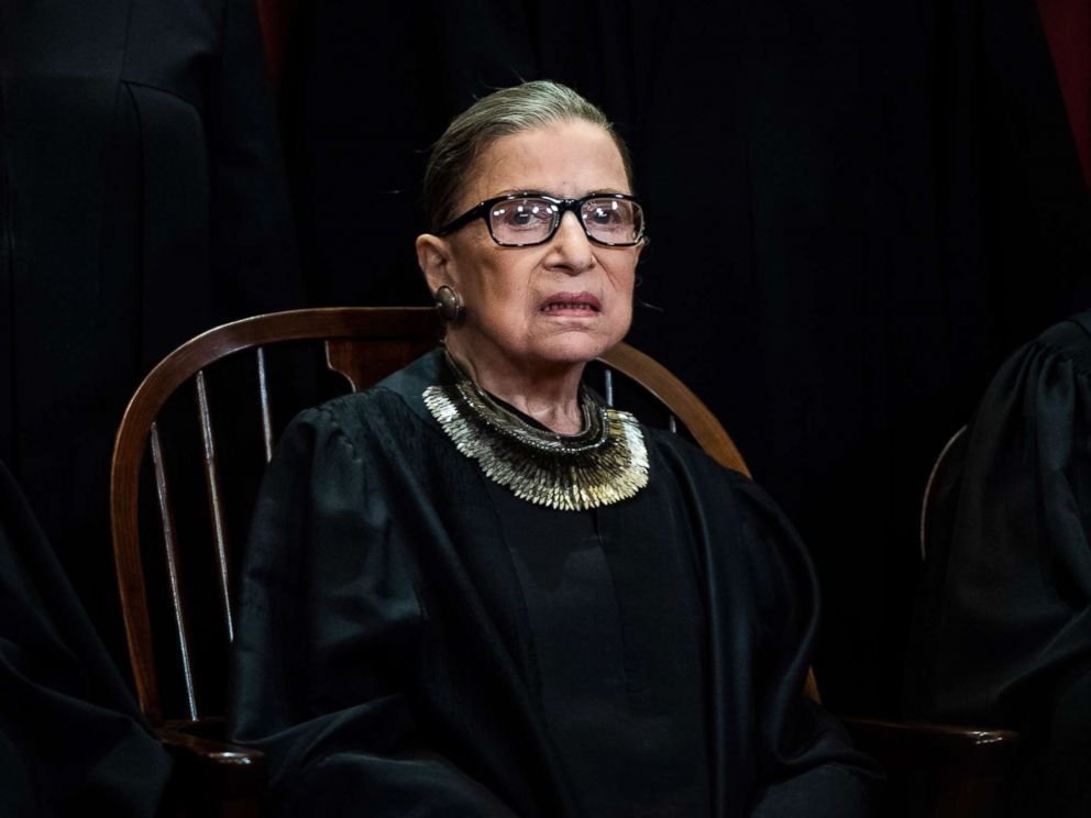 PHOTO: Associate Justice Ruth Bader Ginsburg during an official group photo at the Supreme Court on Nov. 30, 2018 in Washington.